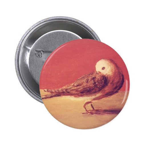 """""""Hector"""" Bird Painting Button"""