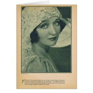 Hedda Hopper vintage portrait actress Card