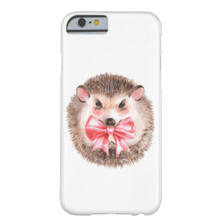 Hedgehog and bow barely there iPhone 6 case