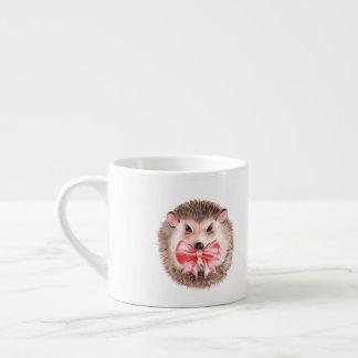 Hedgehog and bow espresso cup