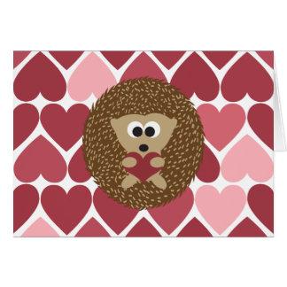 Hedgehog and hearts card