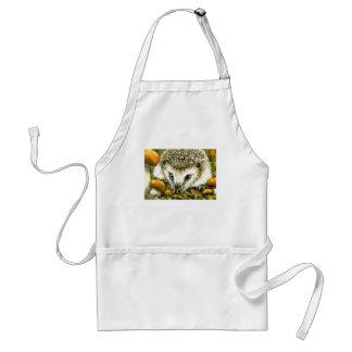 Hedgehog and yummy mushrooms standard apron