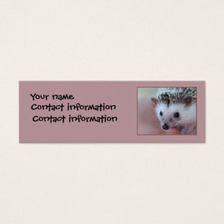 Hedgehog bookmark  or profile card