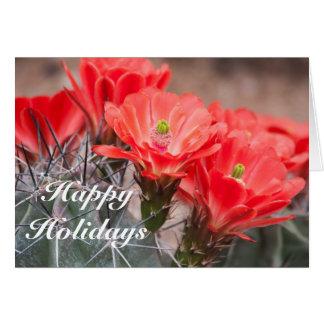 Hedgehog Cactus Happy Holidays Card