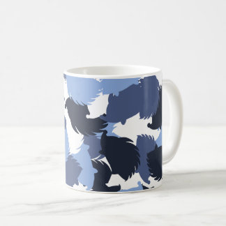 Hedgehog camouflage coffee mug