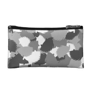 Hedgehog camouflage cosmetic bag