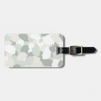 Hedgehog camouflage luggage tag