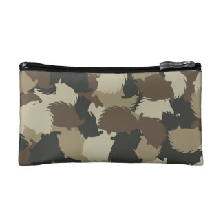 Hedgehog camouflage makeup bag