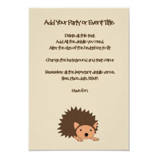 Hedgehog Children's Party or Baby Shower Invite
