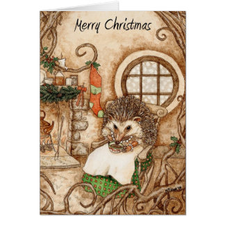 Hedgehog Christmas - Part 1 Greeting Card