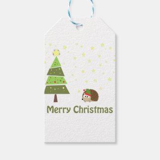 Hedgehog Christmas Scene Gift Tags