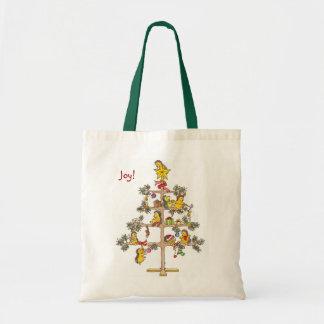 Hedgehog Christmas tree Tote Bag