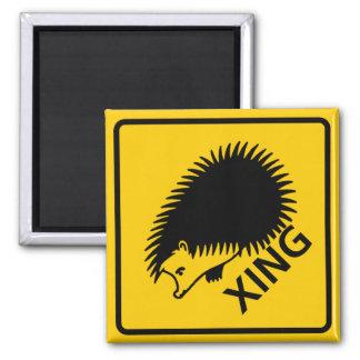 Hedgehog Crossing Highway Sign Magnet