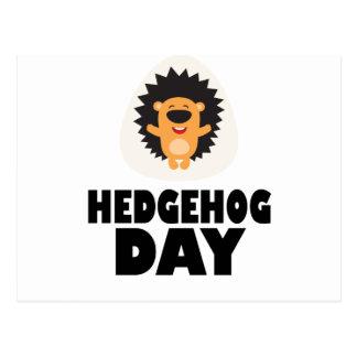 Hedgehog Day - Appreciation Day Postcard
