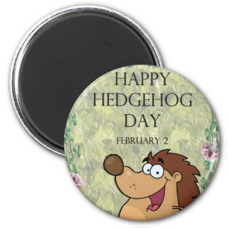 Hedgehog Day February 2 6 Cm Round Magnet