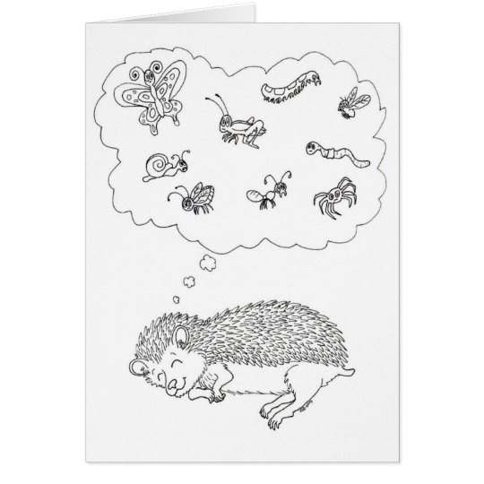 Hedgehog Dreams Card