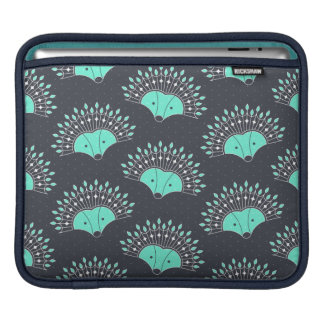 Hedgehog Fan Pattern iPad Sleeve