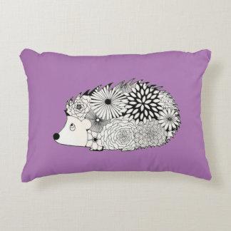 hedgehog floral pillow