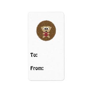 Hedgehog Hugging Heart Address Label