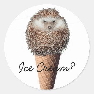 Hedgehog Ice Cream Stickers