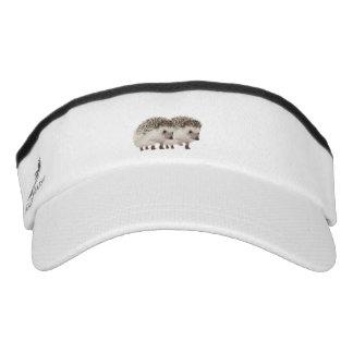 Hedgehog image for Custom Knit Visor, White Visor
