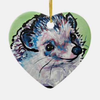 hedgehog.jpg ceramic ornament