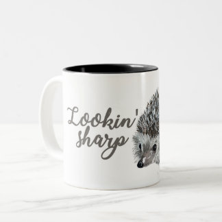 Hedgehog Lookin' Sharp Two Tone Mug