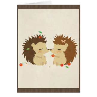 Hedgehog Love (Look II) Card
