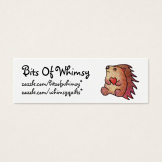 Hedgehog Love! Mini Business Card