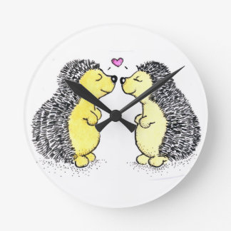 Hedgehog Love, Time for Love Round Clock