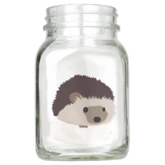 Hedgehog Mason Jar
