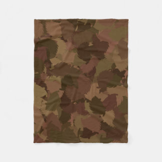 HEDGEHOG modern camouflage Fleece Blanket