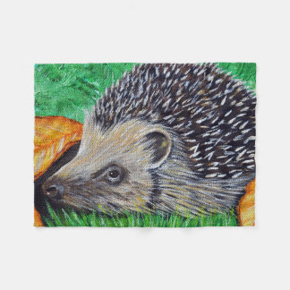 Hedgehog Painting Fleece Blanket