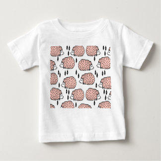 Hedgehog - Pink And White / Andrea Lauren Baby T-Shirt