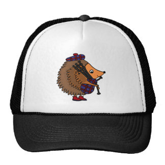 Hedgehog Playing Bagpipes Cap