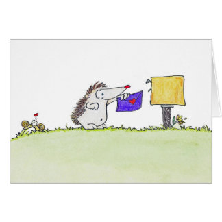 HEDGEHOG POST by Nicole Janes Card