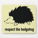 Hedgehog - Respect the Hedgehog Mouse Pads