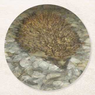 Hedgehog Round Paper Coaster