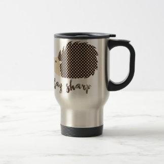 Hedgehog stay sharp travel mug