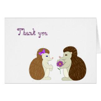 Hedgehog Thank You Card