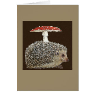 Hedgehog Umbrella #3 greeting card