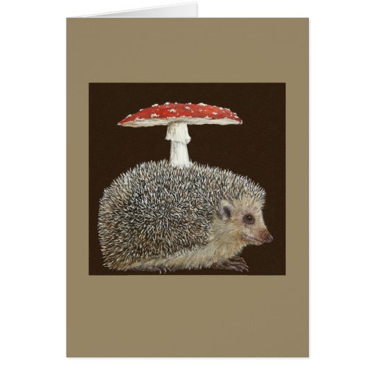 Hedgehog Umbrella #3 greeting card