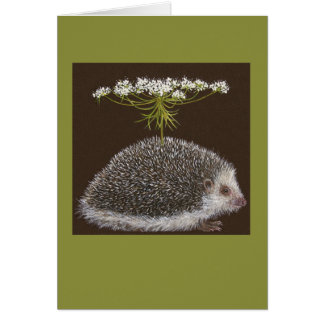 Hedgehog umbrella card