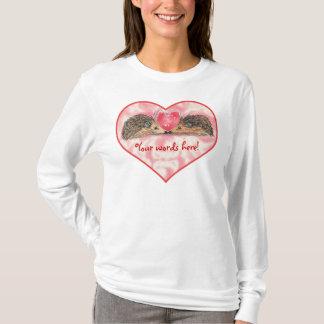 Hedgehog Valentines by Russ T-Shirt
