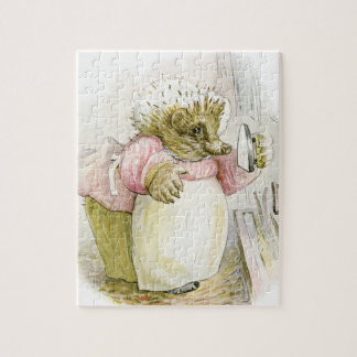 Hedgehog with Iron Mrs Tiggy-Winkle Jigsaw Puzzle