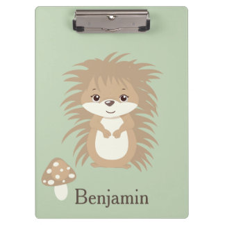 Hedgehog Woodland Animal Clipboard
