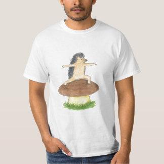 Hedgehog Yoga Warrior 2 pose T-Shirt