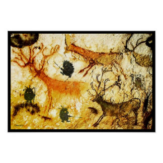 Hedgehogs Cave Painting Poster