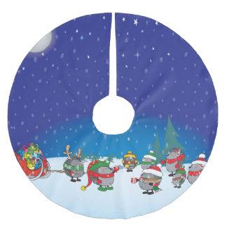 Hedgehog's Christmas magic Tree Skirt