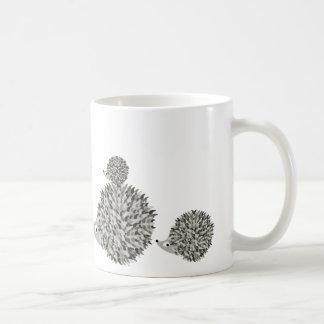 Hedgehogs family coffee mug